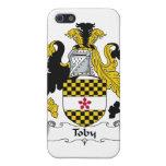 Escudo de la familia de Toby iPhone 5 Carcasas