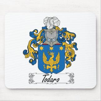 Escudo de la familia de Todaro Alfombrillas De Ratones