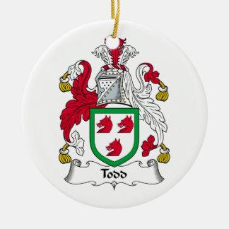 Escudo de la familia de Todd Ornaments Para Arbol De Navidad