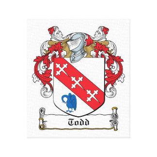 Escudo de la familia de Todd Lienzo Envuelto Para Galerías