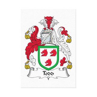 Escudo de la familia de Todd Impresión De Lienzo