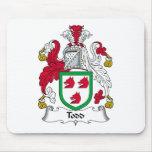 Escudo de la familia de Todd Tapetes De Ratones