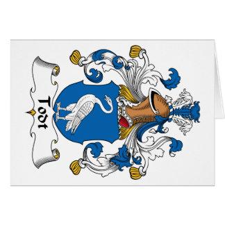 Escudo de la familia de Todt Tarjeta De Felicitación