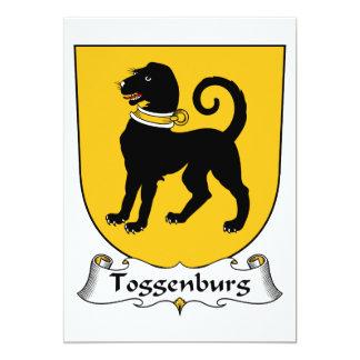 Escudo de la familia de Toggenburg Invitación Personalizada
