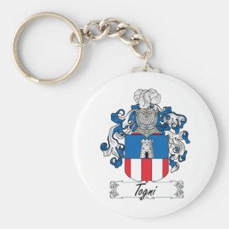 Escudo de la familia de Togni Llavero Redondo Tipo Pin