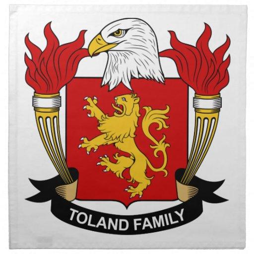 Escudo de la familia de Toland Servilletas