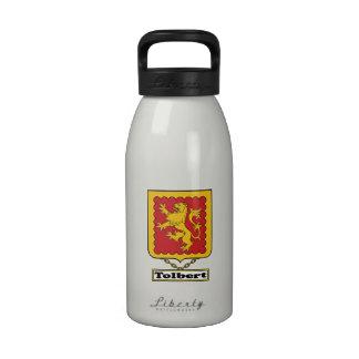 Escudo de la familia de Tolbert Botella De Beber