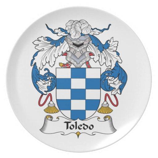 Escudo de la familia de Toledo Platos Para Fiestas
