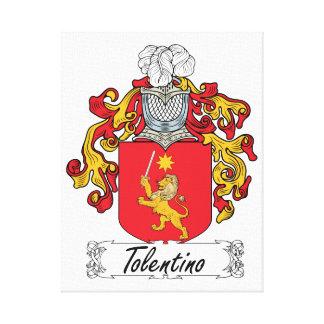 Escudo de la familia de Tolentino Impresiones En Lona