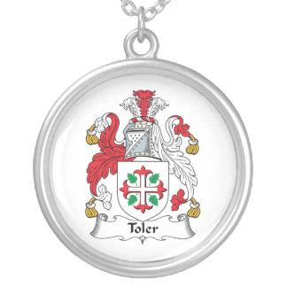 Escudo de la familia de Toler Colgante Redondo