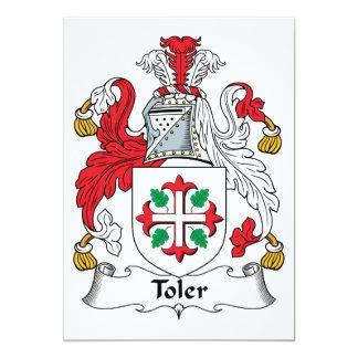 """Escudo de la familia de Toler Invitación 5"""" X 7"""""""