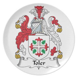 Escudo de la familia de Toler Platos De Comidas
