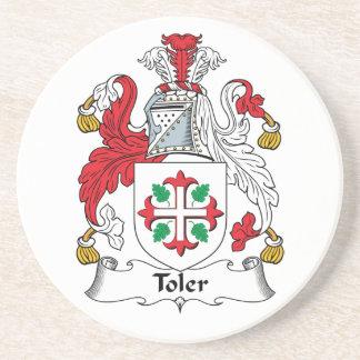 Escudo de la familia de Toler Posavasos De Arenisca