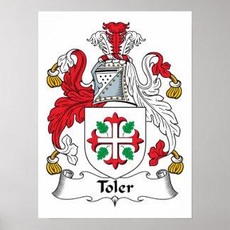 Escudo de la familia de Toler Póster