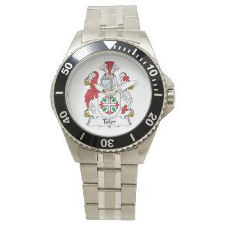 Escudo de la familia de Toler Relojes De Pulsera