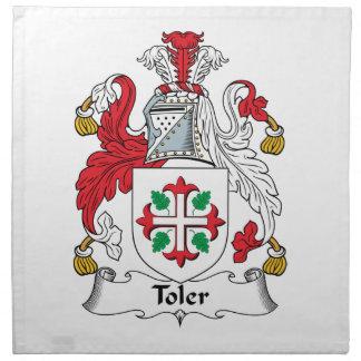 Escudo de la familia de Toler Servilleta Imprimida