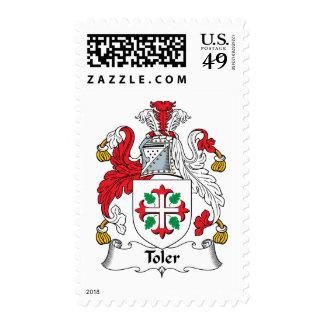 Escudo de la familia de Toler Timbres Postales