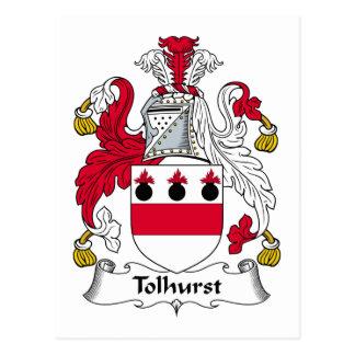 Escudo de la familia de Tolhurst Postal