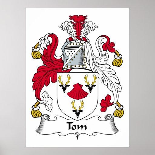Escudo de la familia de Tom Póster