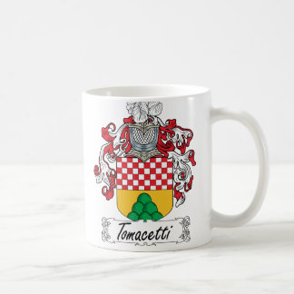 Escudo de la familia de Tomacetti Taza Básica Blanca
