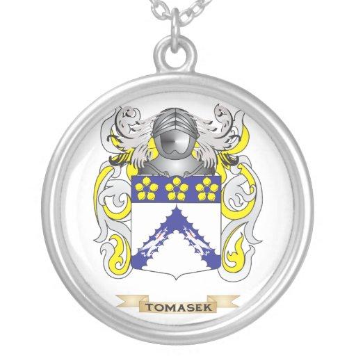 Escudo de la familia de Tomasek (escudo de armas) Pendiente Personalizado