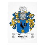 Escudo de la familia de Tomasini Invitacion Personalizada