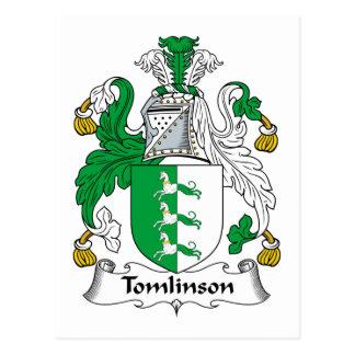 Escudo de la familia de Tomlinson Tarjeta Postal