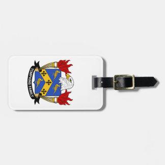 Escudo de la familia de Tompkins Etiquetas Maleta