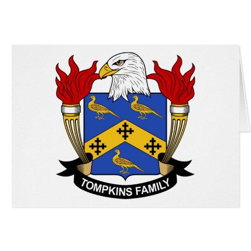 Escudo de la familia de Tompkins Tarjeta De Felicitación