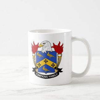 Escudo de la familia de Tompkins Taza De Café