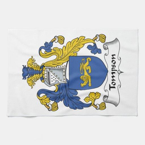 Escudo de la familia de Tompson Toalla De Mano