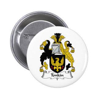 Escudo de la familia de Tonkin Pin Redondo De 2 Pulgadas
