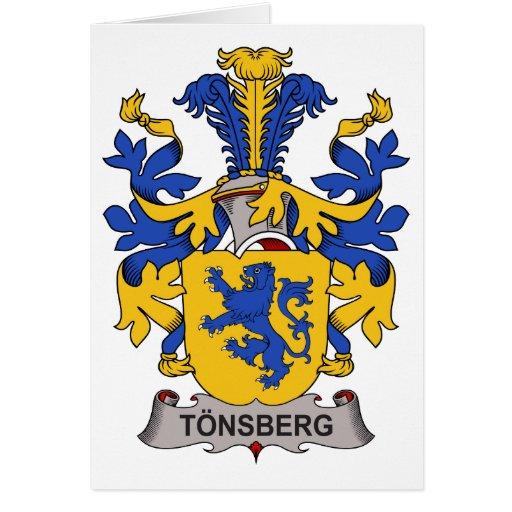 Escudo de la familia de Tonsberg Tarjeta De Felicitación