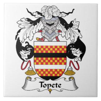 Escudo de la familia de Topete Azulejo Cuadrado Grande