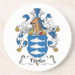 Escudo de la familia de Topfer Posavasos Manualidades