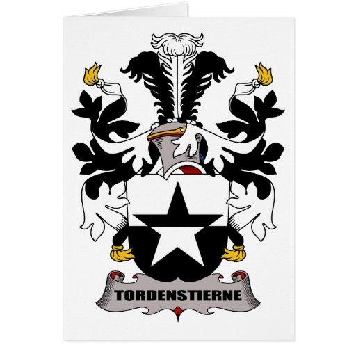 Escudo de la familia de Tordenstierne Felicitacion
