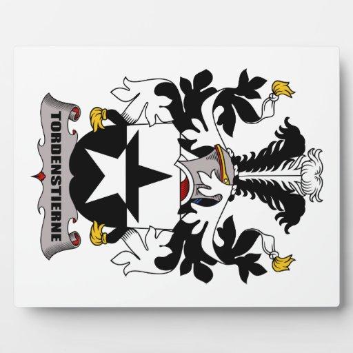 Escudo de la familia de Tordenstierne Placa De Plastico