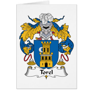 Escudo de la familia de Torel Tarjeta De Felicitación