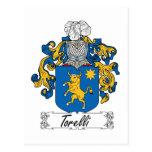 Escudo de la familia de Torelli Postal