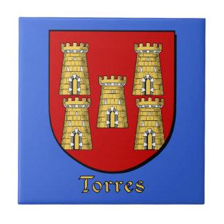 Escudo de la familia de Torres Teja Cerámica