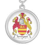 Escudo de la familia de Torrington Pendientes Personalizados