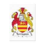 Escudo de la familia de Torrington Impresiones En Lienzo Estiradas