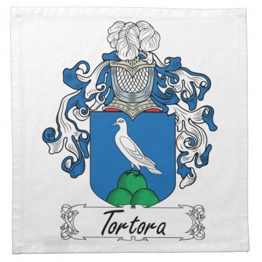 Escudo de la familia de Tortora Servilleta De Papel