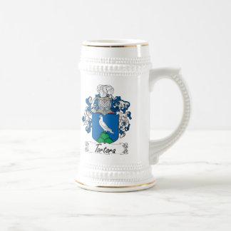 Escudo de la familia de Tortora Jarra De Cerveza