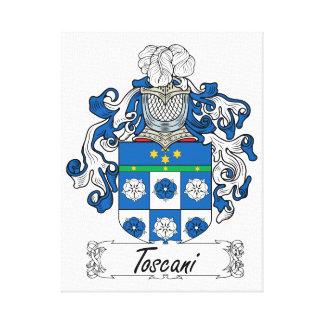 Escudo de la familia de Toscani Lienzo Envuelto Para Galerías