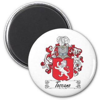 Escudo de la familia de Toscano Imán Redondo 5 Cm