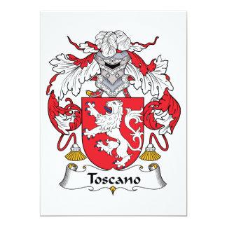 """Escudo de la familia de Toscano Invitación 5"""" X 7"""""""