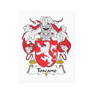 Escudo de la familia de Toscano Impresion De Lienzo