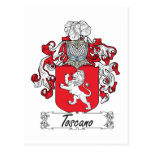 Escudo de la familia de Toscano Postal