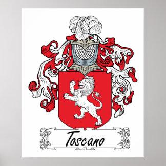 Escudo de la familia de Toscano Póster